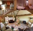 self catering barn with vaulted ceiling