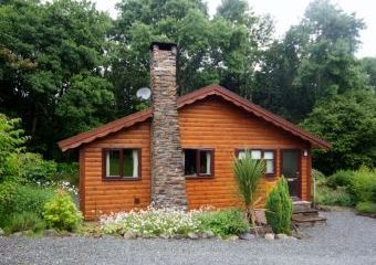 Milk Wood Lodge 5 Star Log Cabin  - Brithdir near Dolgellau,
