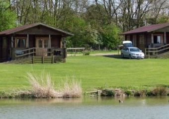 Cabins beside a fishing lake  - Great Oxendon,