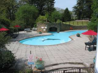 View of outdoor pool from Gate House West window