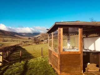 Caban y Berwyn with all weather Hot tub, Powys,  Wales