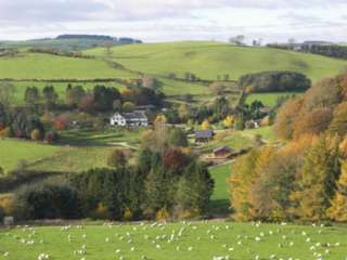 self-catering farm lodge sleeps 4 for holidays in Welsh borders