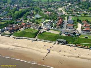 Aerial view of Beach House Mundesley