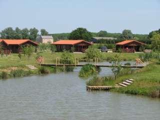 Pine lodge holidays  around lake near Lincoln