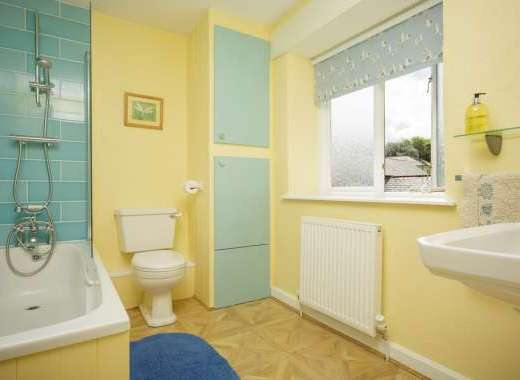 There is a newly refurbished bathroom