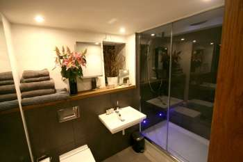 Bathroom with Power Drench Shower & Mood Lighting