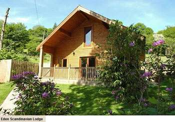 Stay in a cosy pine lodge