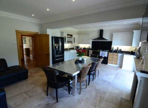 Newly renovated Kitchen, living and dining with Aga cooker and fridge.