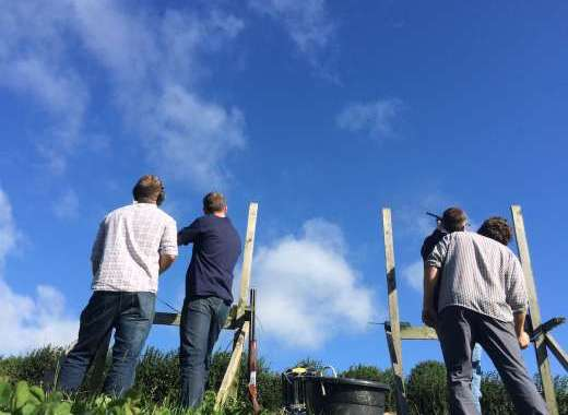 Clay Pigeon Shooting on the Farm