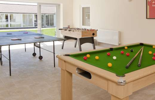 Pool table. Table tennis and table football