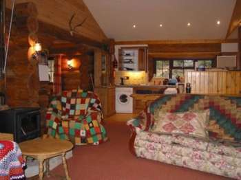 Open plan area holiday lodge