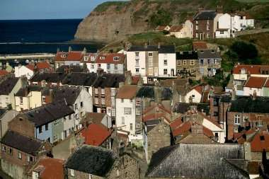 The huddle of cottages in the old fishing village of Staithes