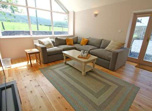 Stylish lounge area with fantastic countryside views