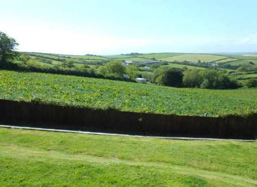 Stunning countryside view from the rear of Tubbs Delight South Devon