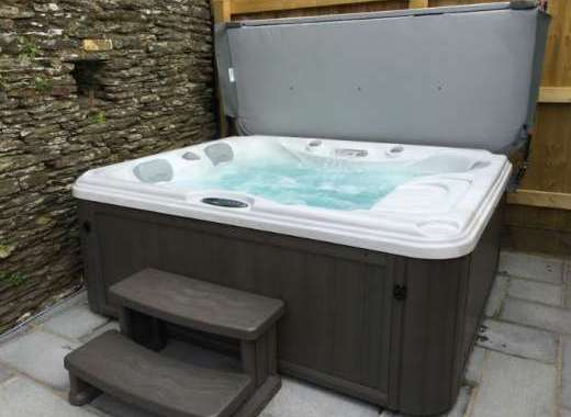 The Barn's Warm Bubbly Hot Tub