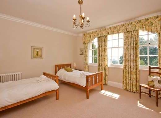 Twin bedroom at ludlow Manor House