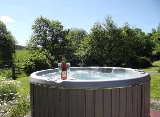 hot tub in lodge