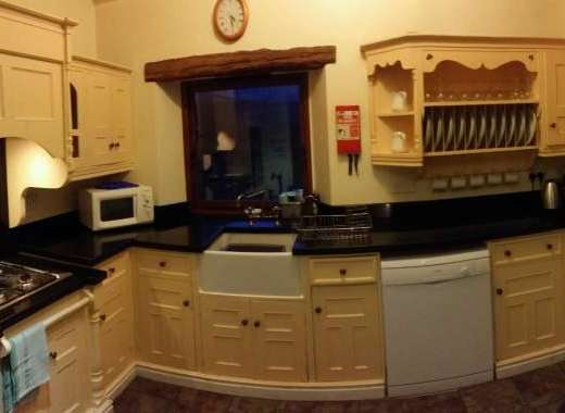 kitchen Peak District big house for rent