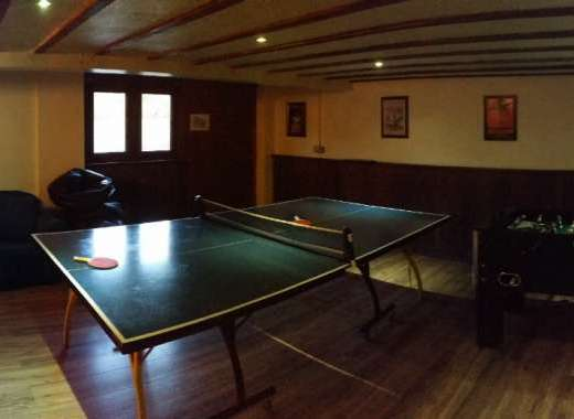 Big games room at the reunion house
