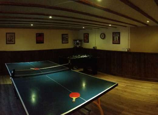 Games room large house for party reunion
