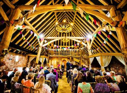 Wedding at the Tudor barn