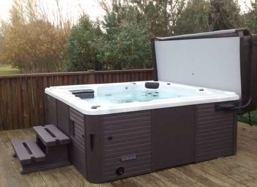 Treat yourself to our hot tub, right outside the door of our 5 star lodge