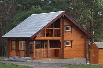 Log Cabin Speyside Moray Scotland