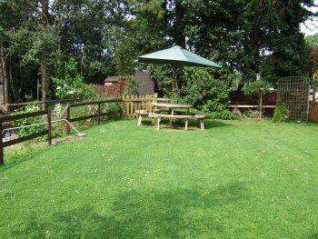 Picnic table including garden  chairs