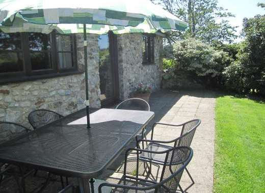 Sunny patio perfect for alfresco meals