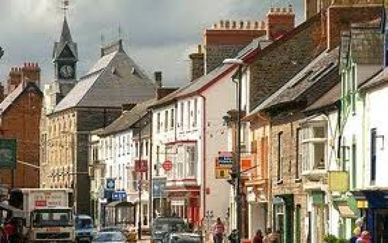 Cardigan Has many independent shops bars and restaurants