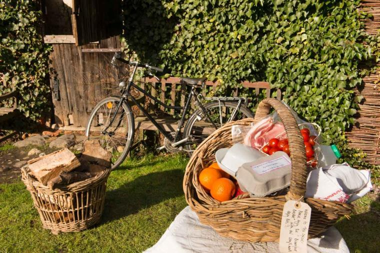 Free Breakfast basket and bikes for you