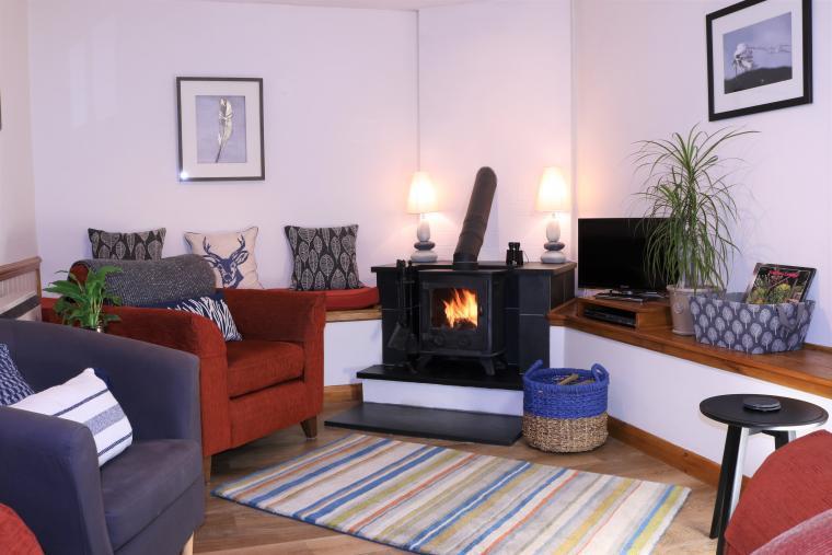 Log-burners at Dittiscombe