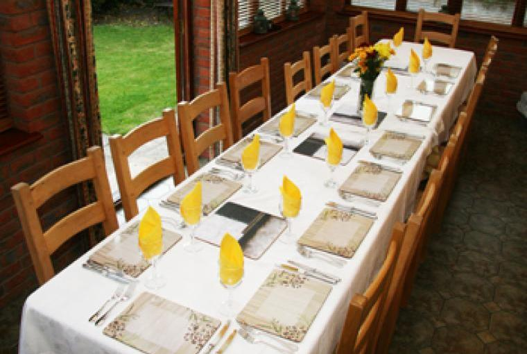 Self-catering cottage in South West England- Dining Room seats 18