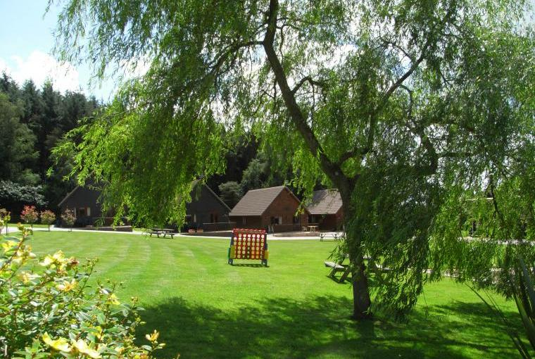 Delightful grounds at Alpine Park Cottages