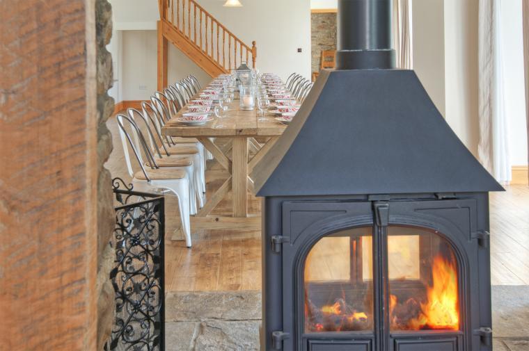 Farmhouse fireplace
