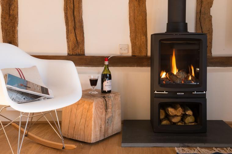 Warming woodburner, Deepwell Granary