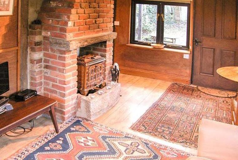 Woodburner, Endymion Lodge, New Forest, Hampshire