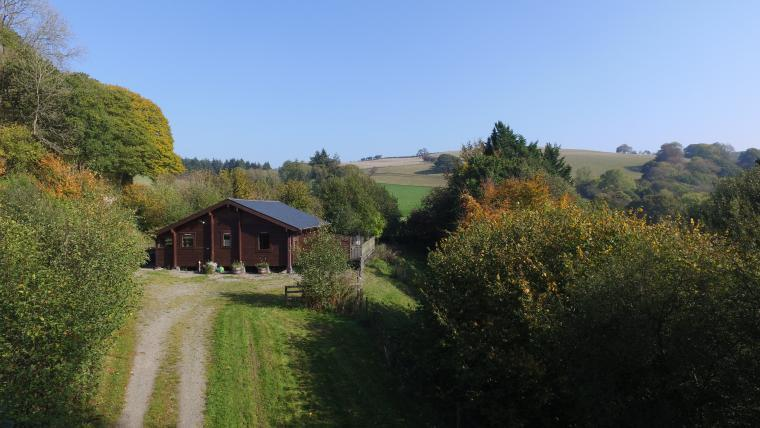 Lodge entrance and parking