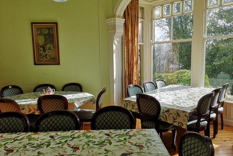 The large elegant dining room