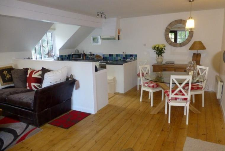 Open plan, spacious living area