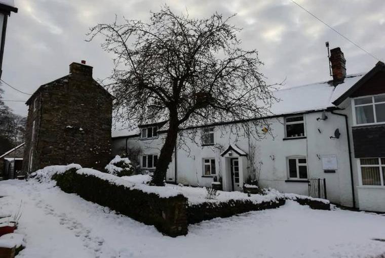 Snowing at Tygwyn