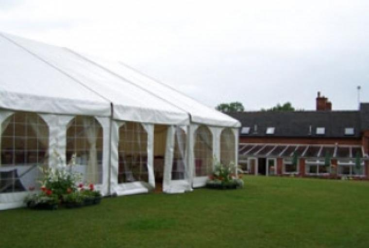 Marquee wedding party celebration