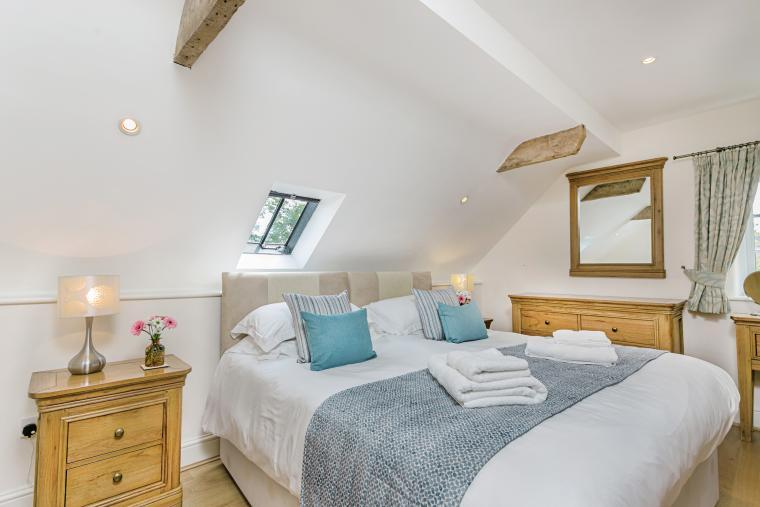 High quality oak doors, flooring and furniture in all the bedrooms