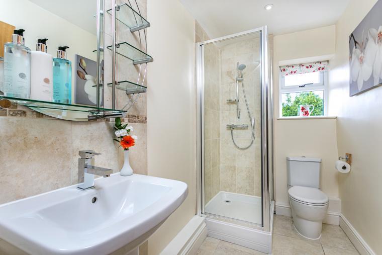 Six shower/bath rooms