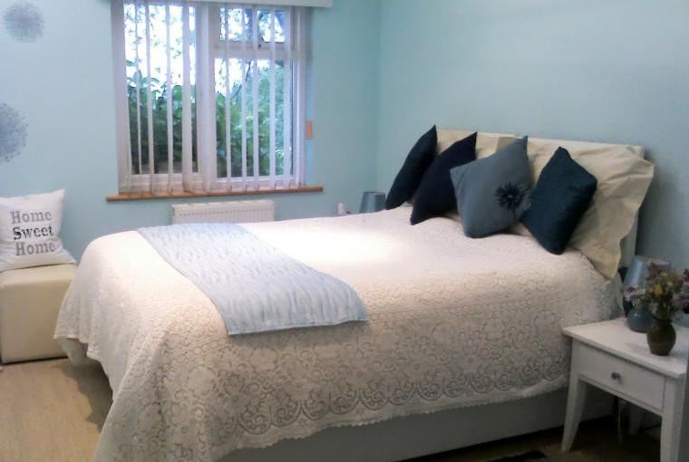 Bedroom 3 set up with double bed