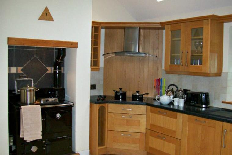 Modern kitchen with Rayburn