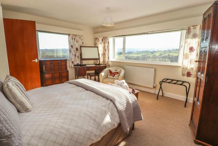 Bedroom with country views