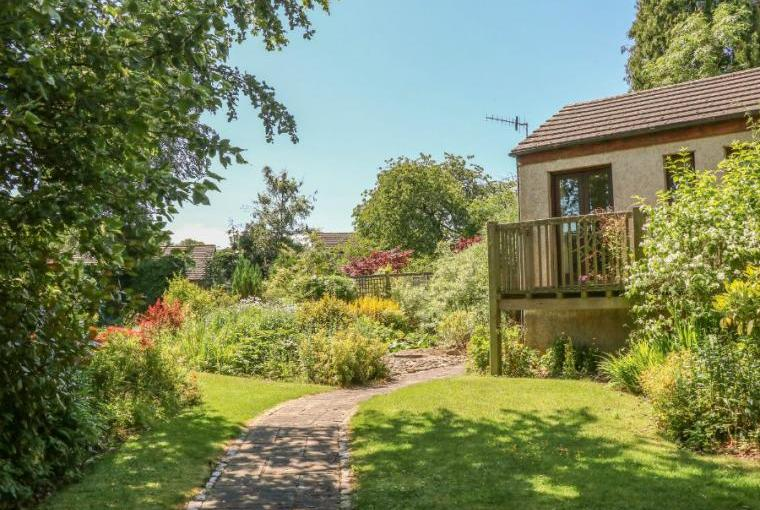 Lodge is set in mature gardens