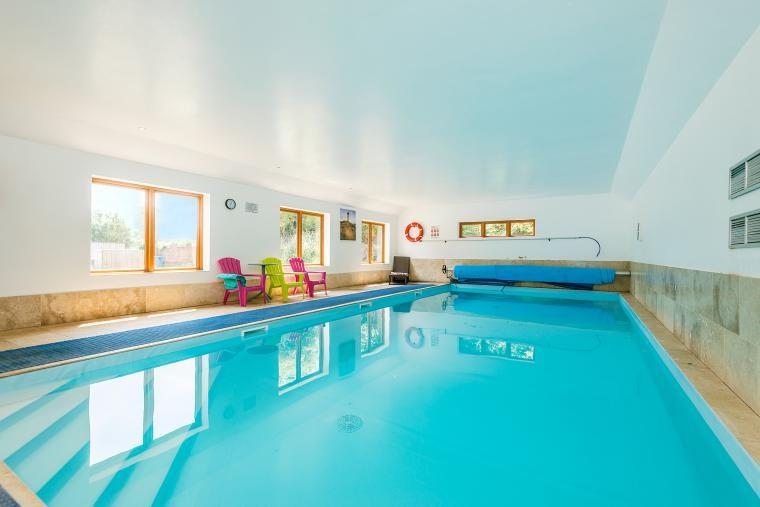 Indoor Pool perfect for groups of friends and family holidays in Somerset