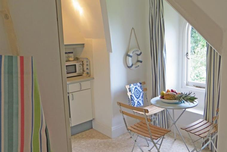 The family kitchen with dining table